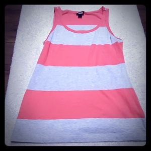Massimo supply co gray and pink womens tank med